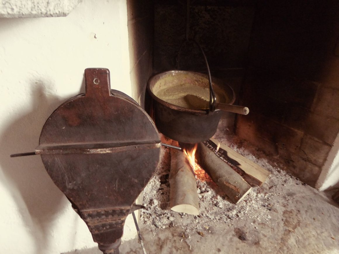 pollenta by the fire
